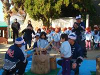 柳井幼稚園 子育て支援 餅つき