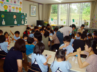 柳井幼稚園の一日 お絵かき